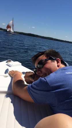 Jack chillin on the lake Fall '16