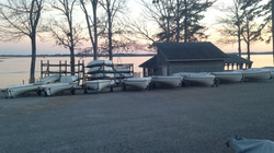 Making the boats look snazzy