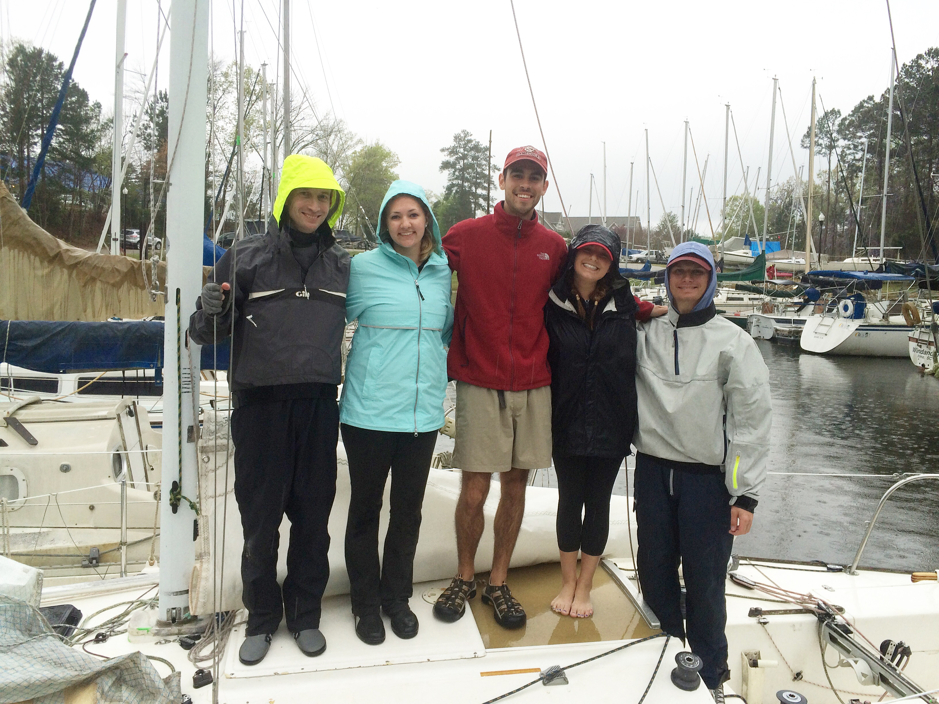 Winsome crew at Easter Regatta
