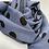 Thumbnail: PolkaDots Blue Wool Silk Scarf