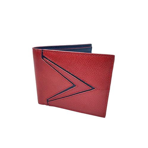 Galaxy saffiano bifold wallet red