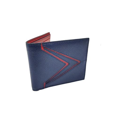 Galaxy saffiano bifold wallet blue