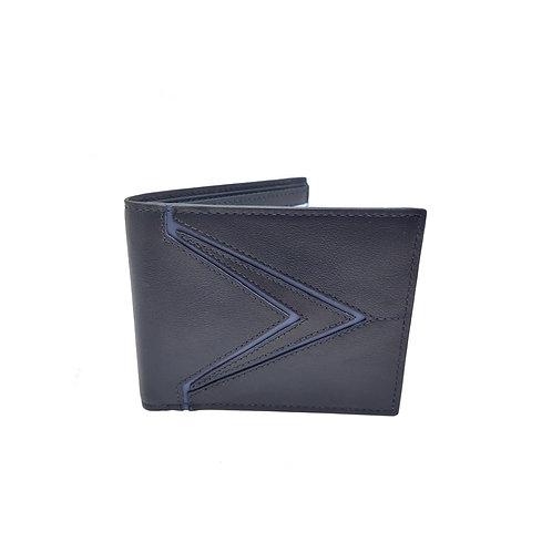 Galaxy soft nappa bifold wallet blue
