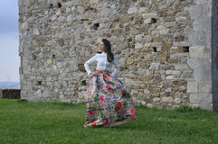 Poses at the Castello Ducale.