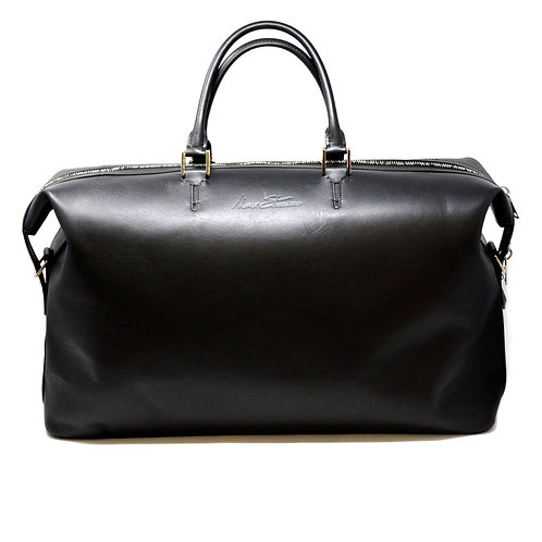 Aspen Black Smooth Leather Duffle