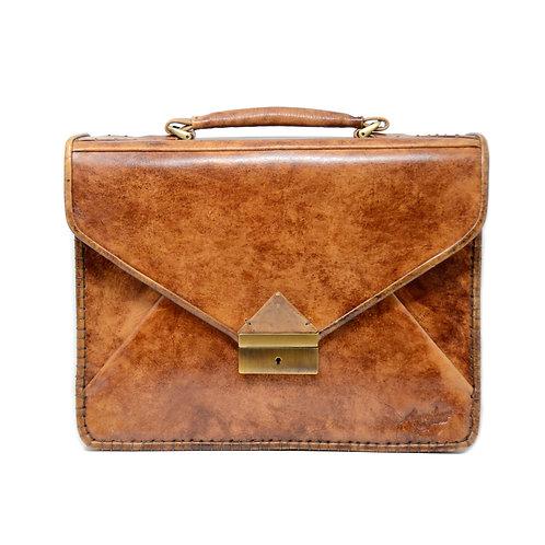 Monte 3 gusset briefcase cognac