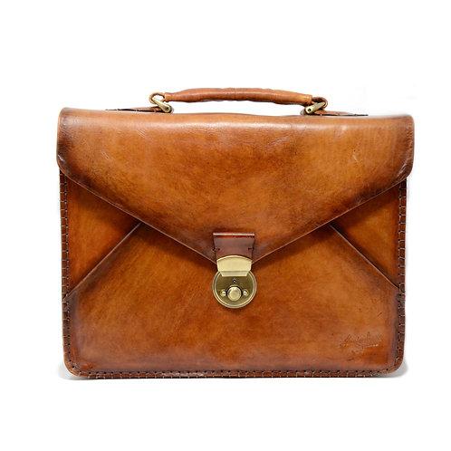 Vanvitelli three gusset briefcase old yellow