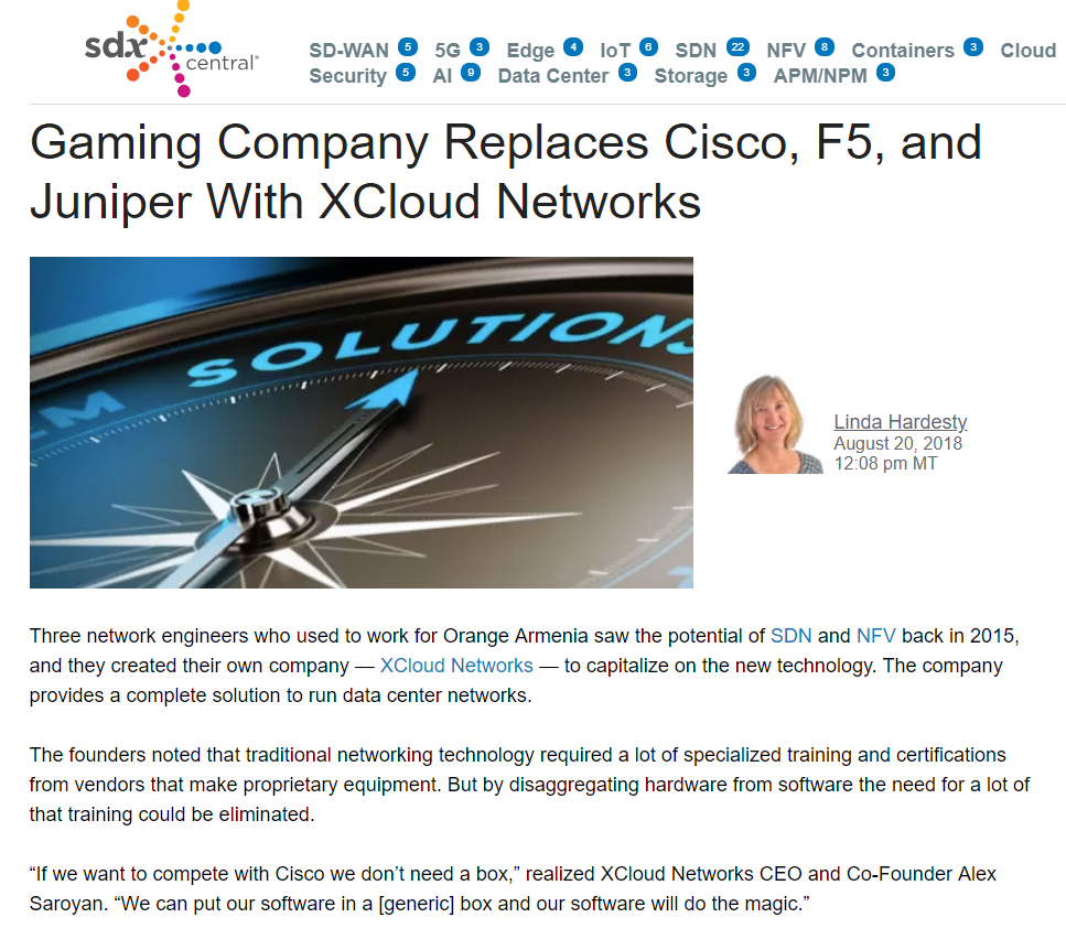 XCloud Networks at SDX Central