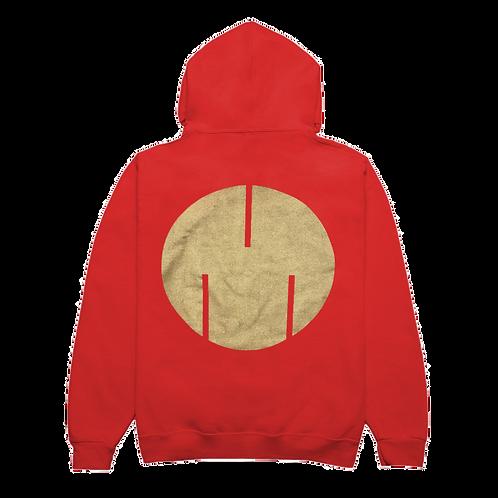 Circle Logo Sweatshirt, Red/Gold
