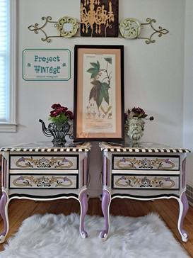 Rocking Rococo Vintage End Tables