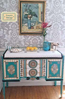 Vintage Tiffany Blue Sideboard