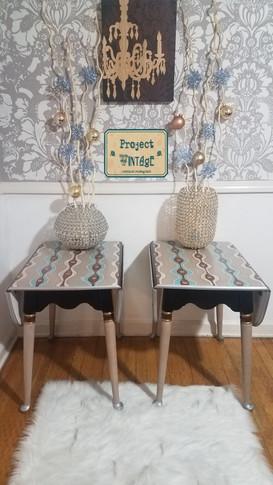 Retro Redo Vintage Drop Leaf End Tables