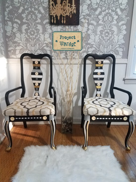 Revamped New Suit Early American Chairs
