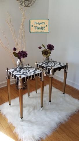 Ceramic Tile Top Accent Tables