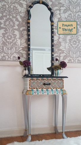 Reimagined Vintage Hall Table and Mirror