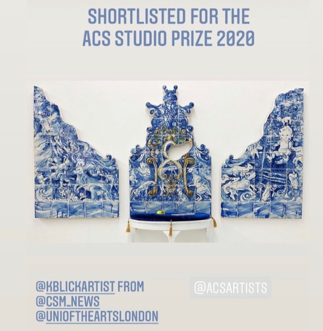 Shortlisted For The ACS Studio Prize, March 2020