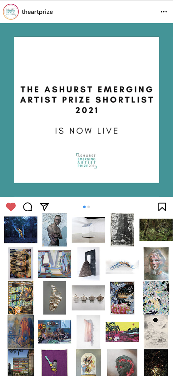 The Ashurst Art Prize Shortlisted,  June 2021