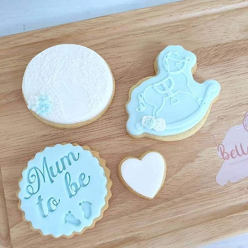 Mum to be, new baby cookie gift set