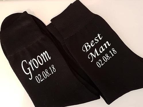 Personalised wedding day socks