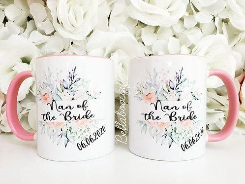 Floral bridal party mug