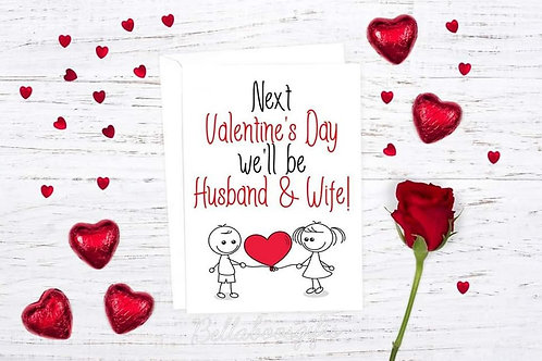 Husband & Wife Valentines Day Card