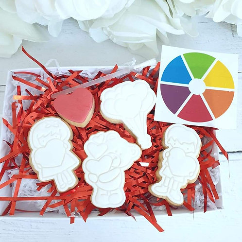 Valentines Paint Your Own Cookie Set