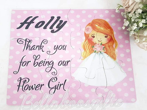 Personalised pageboy or flowergirl jigsaw puzzle