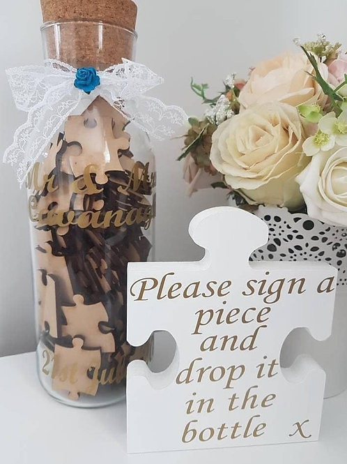 Wedding jigsaw jar