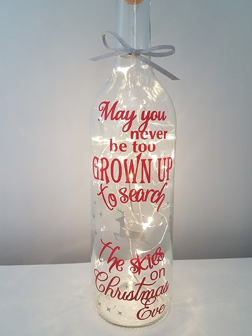 May you never be too grown up light bottle