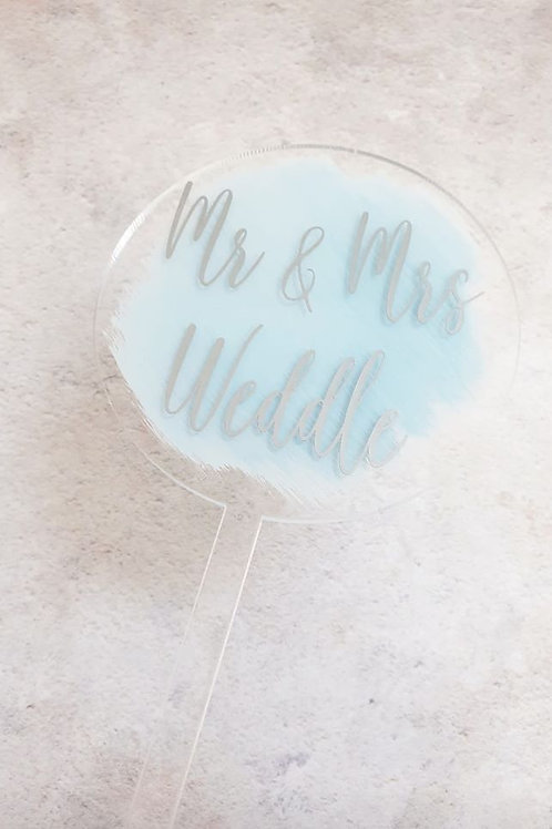 Acrylic round cake topper
