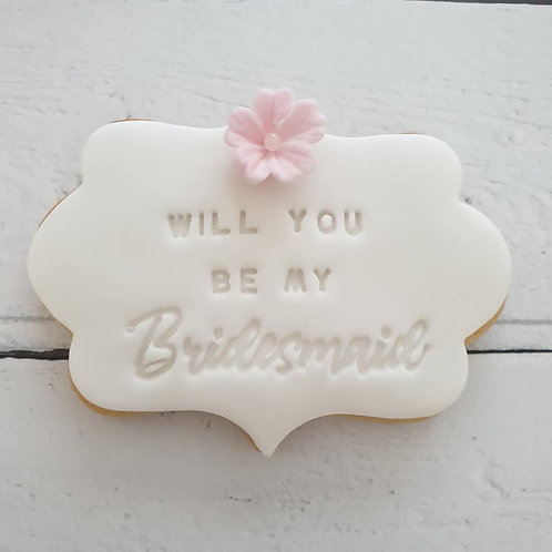 Bridal party cookie