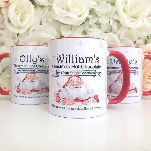 Personalised Santa Hot Chocolate Mug