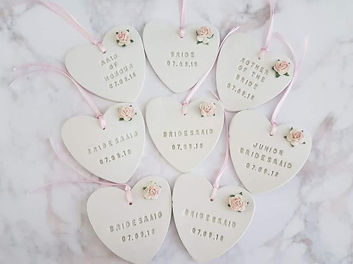 Personalised clay heart/keepsake