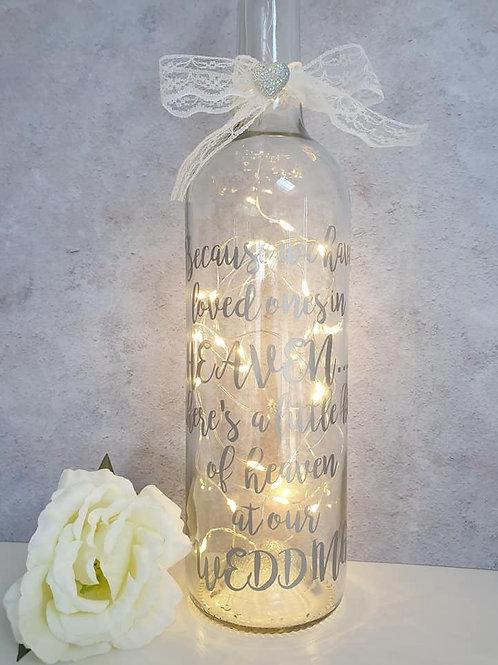 Light up remembrance bottle