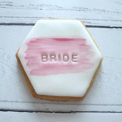 Personalised wedding favour cookies