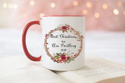 Personalised Mr & Mrs Christmas mug