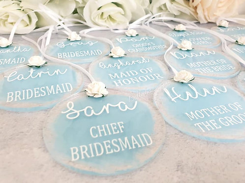 Personalised dress hanger keepsake