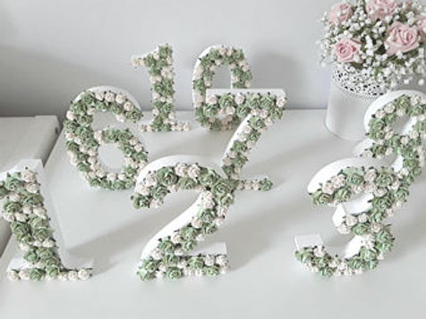 Rose table numbers