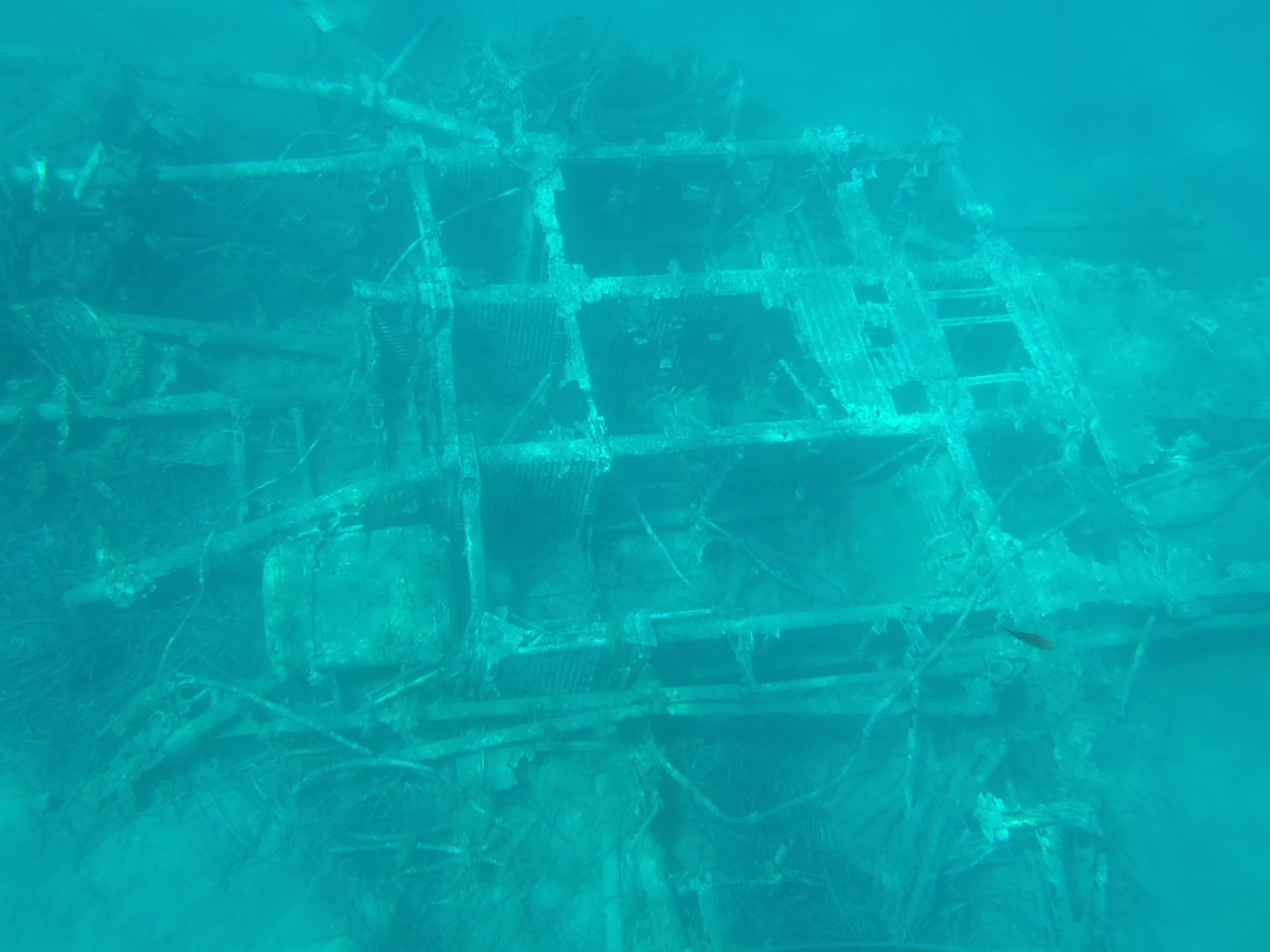 Structure Sunk Underwater