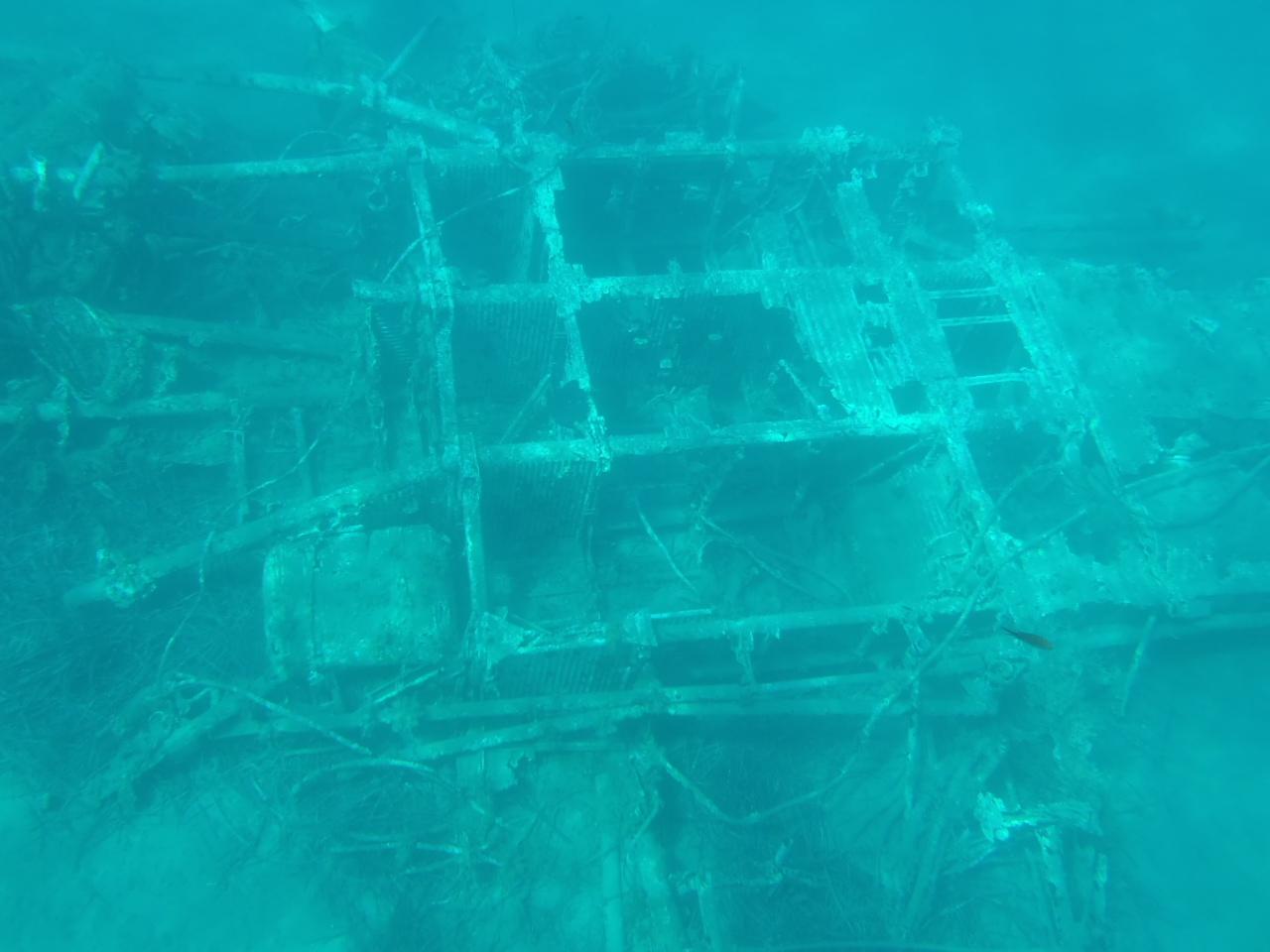 Structure Sunk Underwater