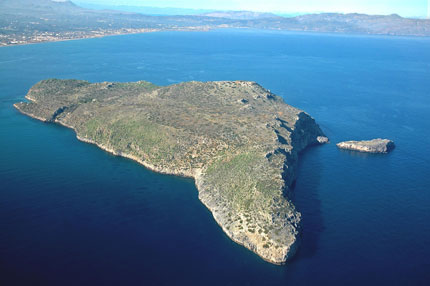 Thodorou Island Aerial View