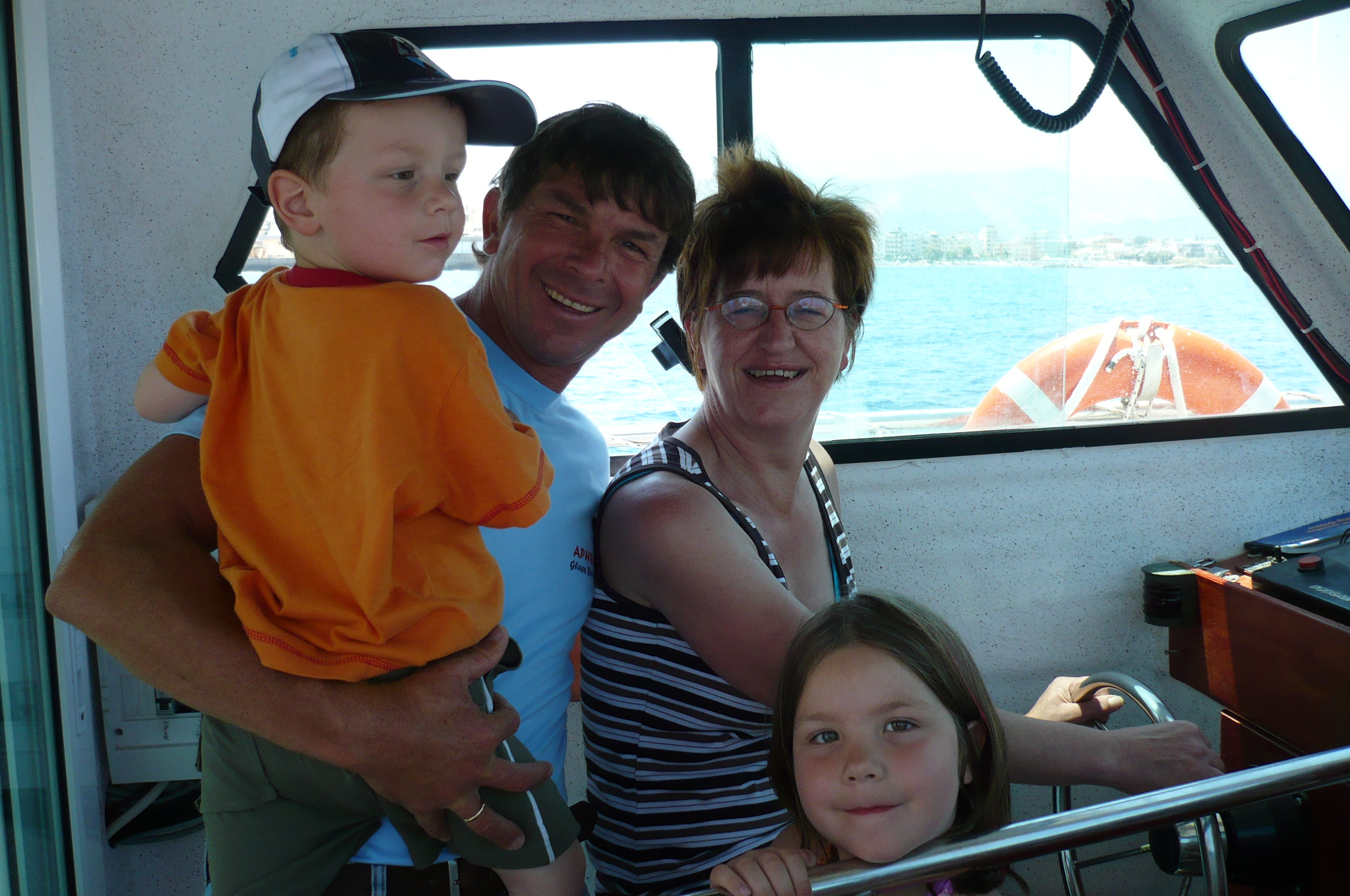 Family on Captain Nick's Boat Trips