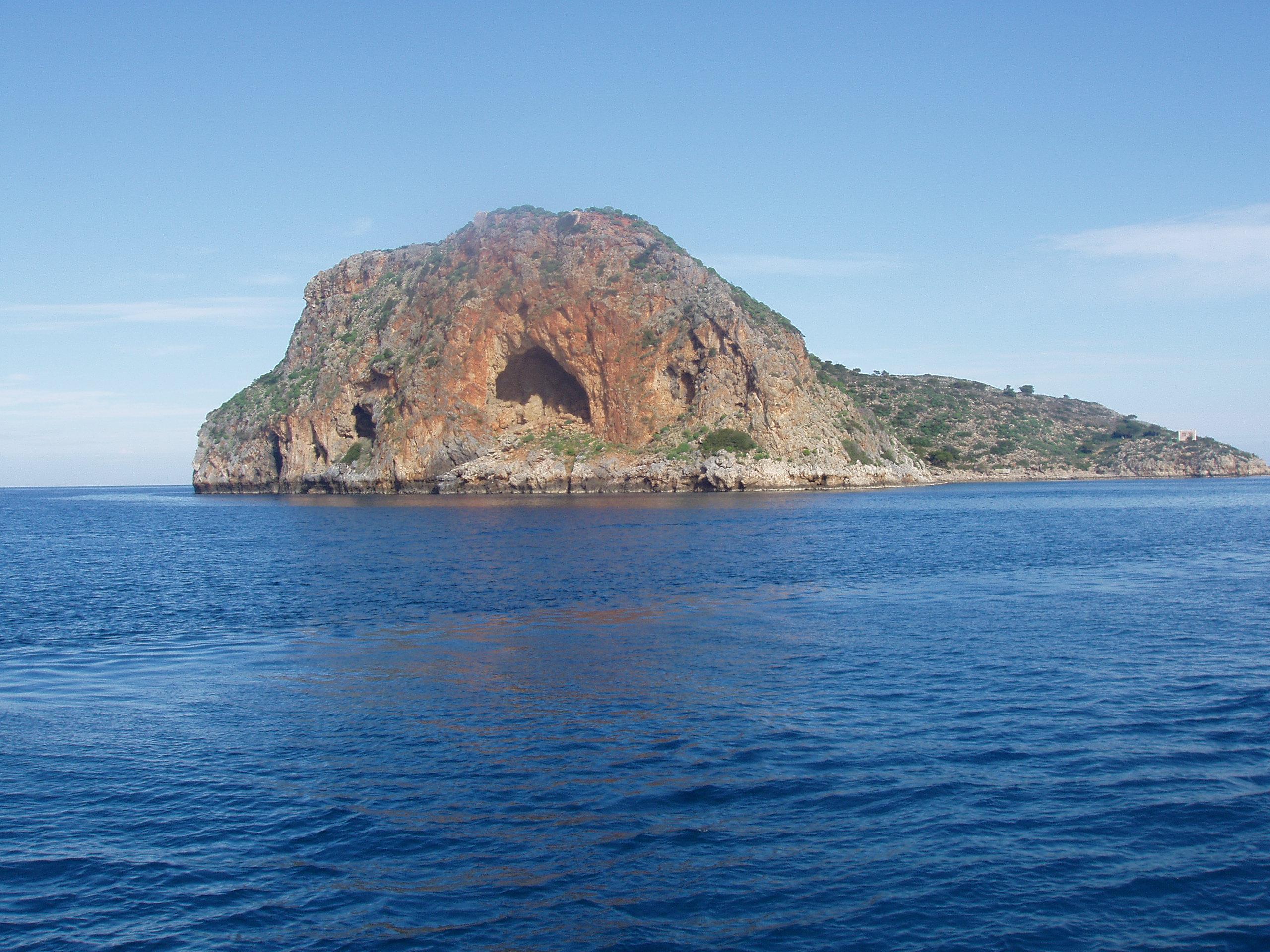 Thodorou Island Cave
