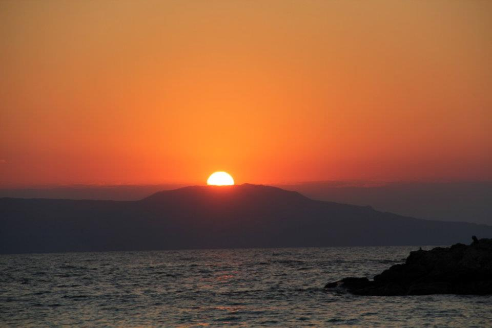 Sun Setting over Thodorou Island