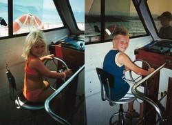 Kids enjoying Captain Nick's Boat