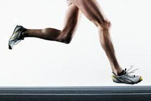 Marathon runner's strong legs