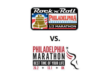 Rock'n'Roll ½ Marathon verses Philly Marathon Weekend: Run Both Or Sit One Out