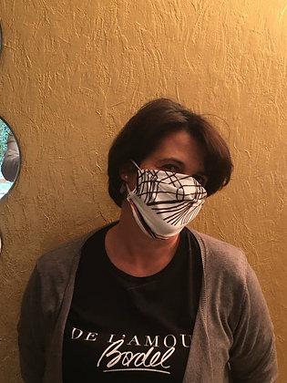 Masque 1 - Divine bichromie brique