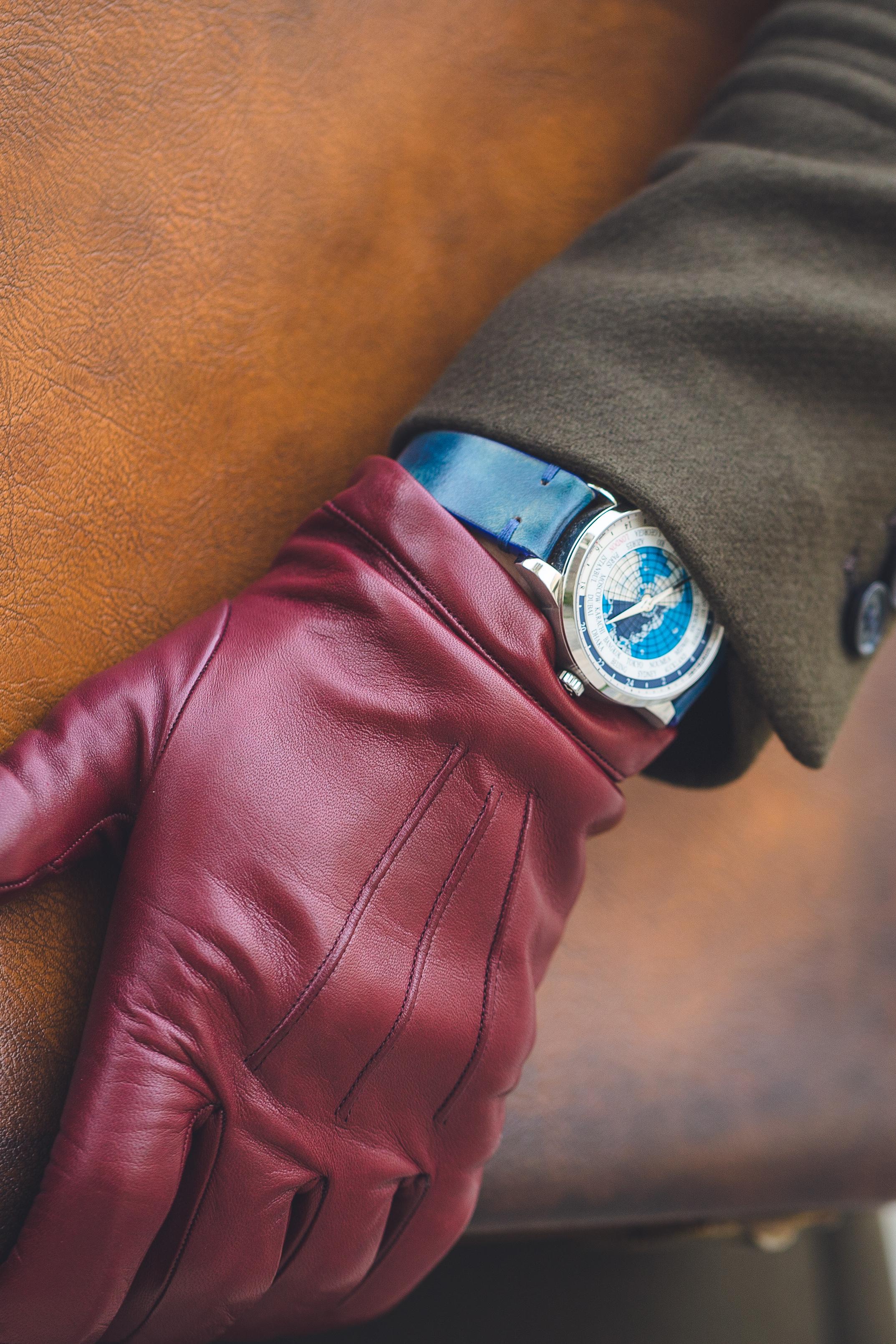 Montblanc et son bracelet bleu
