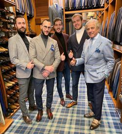 Avec Lino Ieluzzi dans son shop Al Bazar à Milan